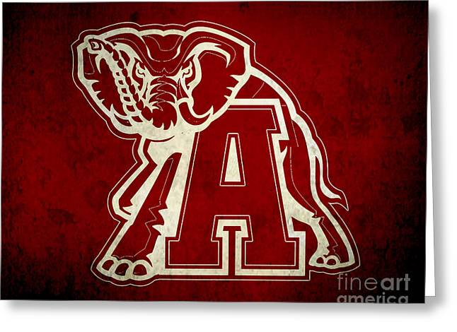 Recently Sold -  - University Of Alabama Greeting Cards - Roll Tide Greeting Card by Scott Karan