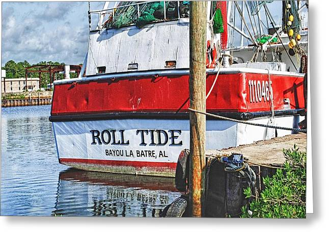 Alabama Crimson Tide Greeting Cards - Roll Tide Stern Greeting Card by Michael Thomas