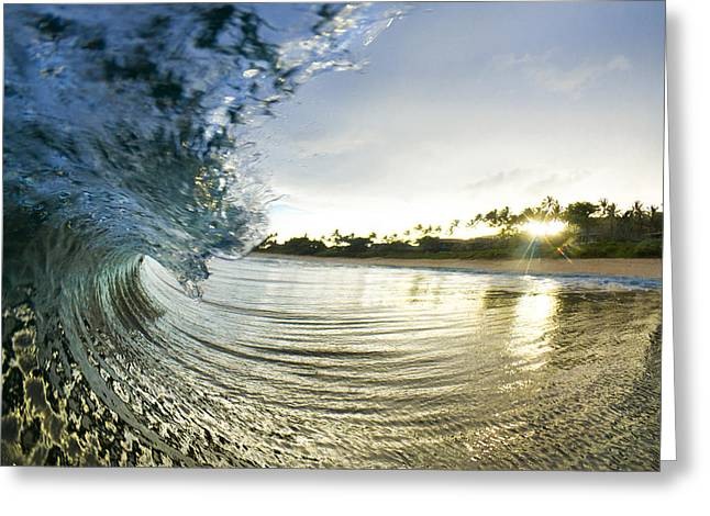 Seascape Photography Greeting Cards - Rolled Gold Greeting Card by Sean Davey
