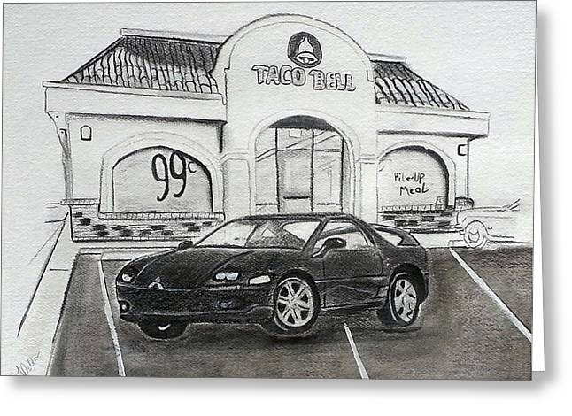 Fast Food Drawings Greeting Cards - Rolled or Stuffed Greeting Card by Tami Dalton