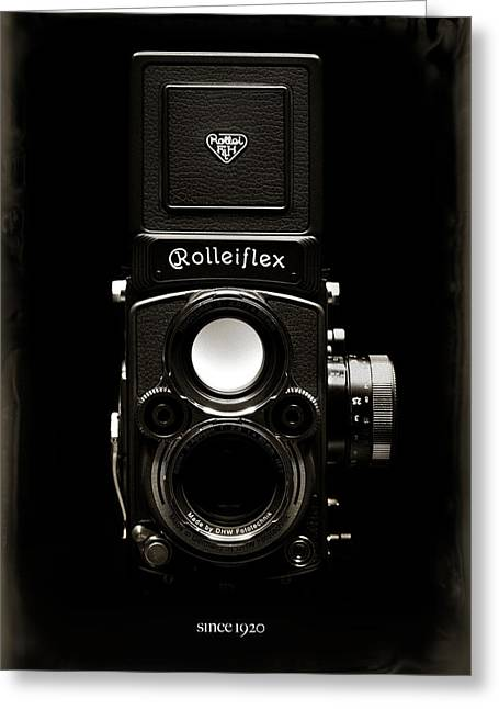 Reflex Greeting Cards - Rolleiflex TLR Greeting Card by Dave Bowman