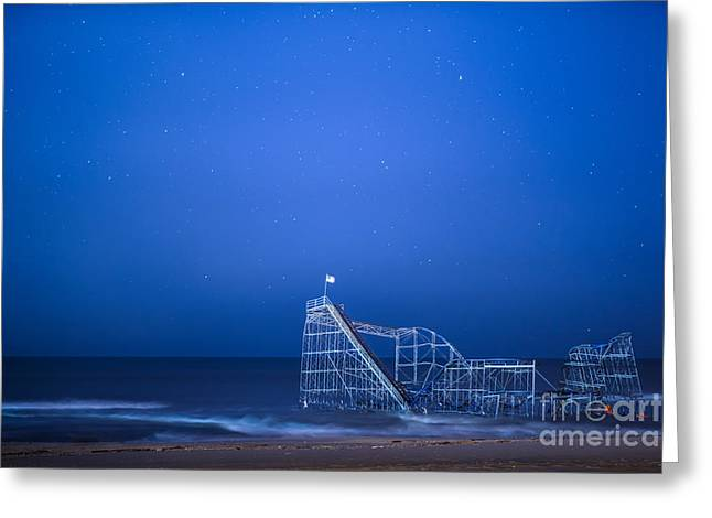 Roller Coaster Stars Greeting Card by Michael Ver Sprill
