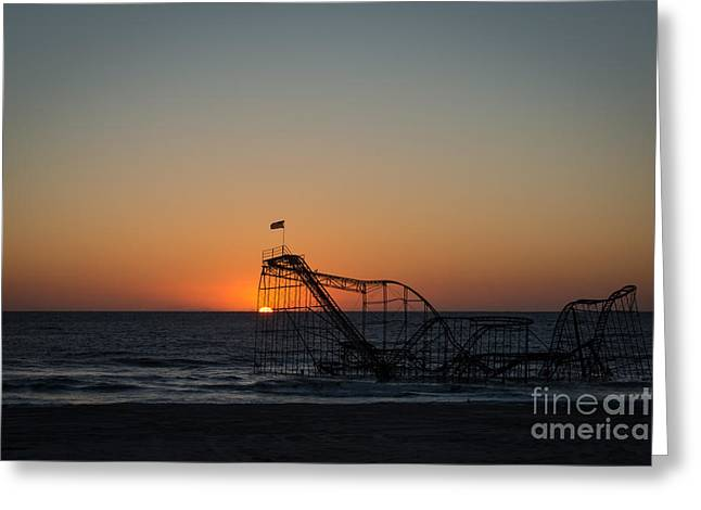 Jet Star Greeting Cards - Roller Coaster Sunrise 2 Greeting Card by Michael Ver Sprill