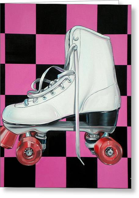 Anthony Mezza Paintings Greeting Cards - Roller Skate Greeting Card by Anthony Mezza