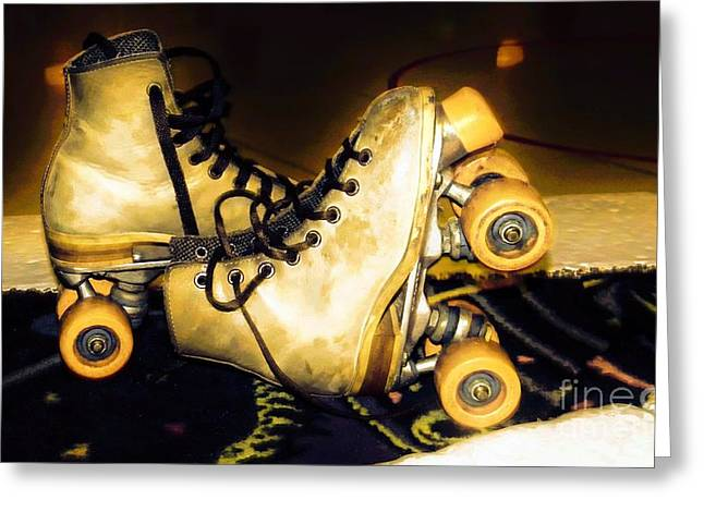 Rollerskate Greeting Cards - Rollerskates Greeting Card by Michelle Frizzell-Thompson