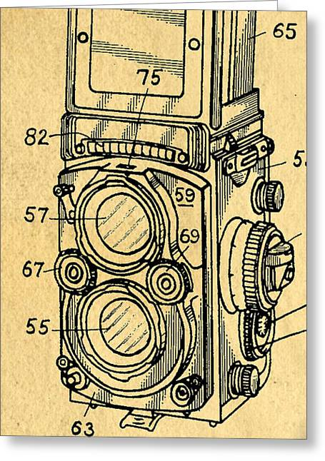 Camera Greeting Cards - Rolli Patent Phone Case Greeting Card by Edward Fielding