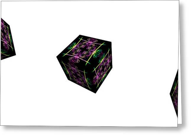 Algorithmic Abstract Greeting Cards - Rolling Cube Greeting Card by Steve Purnell