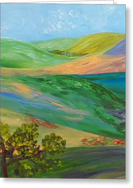Mound Paintings Greeting Cards - Rolling Hills Greeting Card by Eloise Schneider