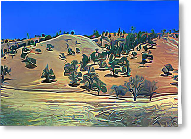 Atascadero Greeting Cards - Rolling Hills in the Summer Greeting Card by Wernher Krutein