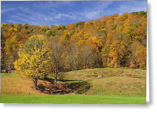 Western Massachusetts Greeting Cards - Rolling Hills Greeting Card by Luke Moore