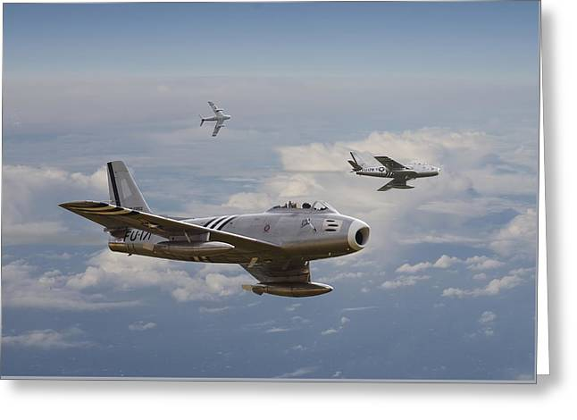 Fighter Aircraft Greeting Cards - Rolling Home Greeting Card by Pat Speirs