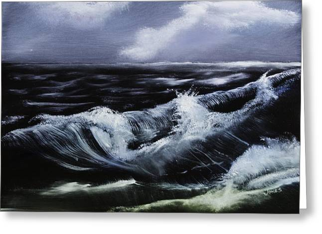 Print On Canvas Greeting Cards - Rolling In Greeting Card by Barry Jones