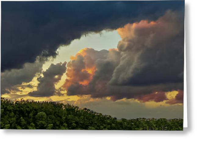Clique Greeting Cards - Storm Clouds Rolling In Greeting Card by Charlie Cliques