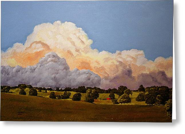 """""""storm Prints"""" Paintings Greeting Cards - Rolling In Greeting Card by Michael King"""