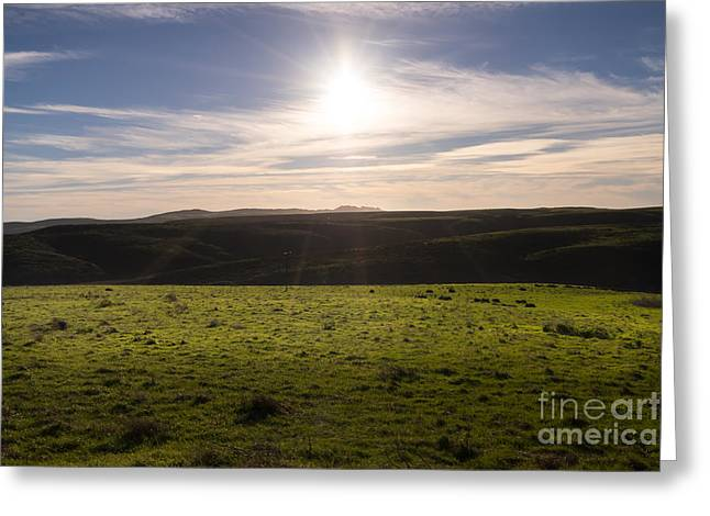 Pt Reyes Greeting Cards - Rolling Landscape Hills of Point Reyes National Seashore California DSC2426 Greeting Card by Wingsdomain Art and Photography