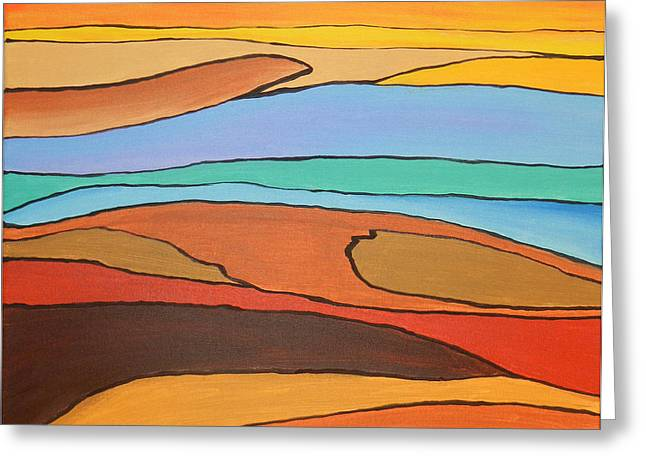 Ocen Landscape Greeting Cards - Rolling Lanscape Greeting Card by Chad  Carper