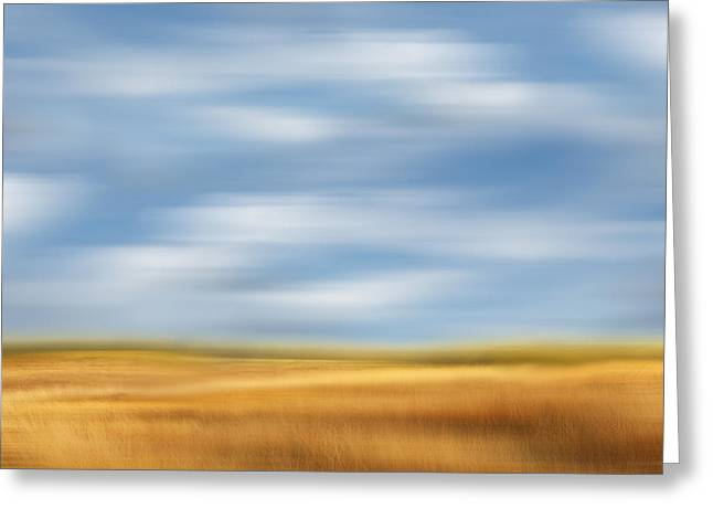 Surreal Landscape Photographs Greeting Cards - Rolling Meadows - a Tranquil Moments Landscape Greeting Card by Dan Carmichael