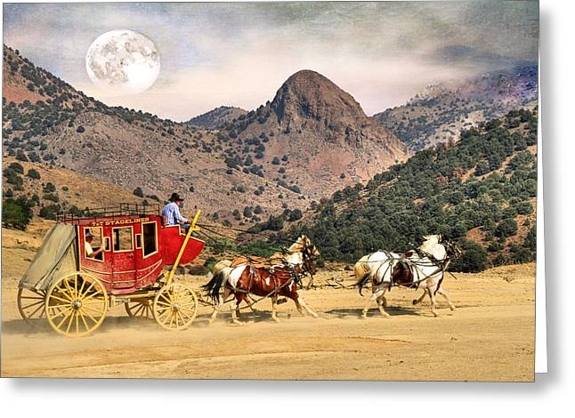 Wagon Wheels Greeting Cards - Rolling  Rolling  Rolling Greeting Card by Donna Kennedy