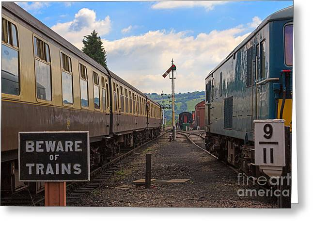 Wark Photographs Greeting Cards - Rolling stock of the Gloucestershire Warwickshire Railway Greeting Card by Louise Heusinkveld