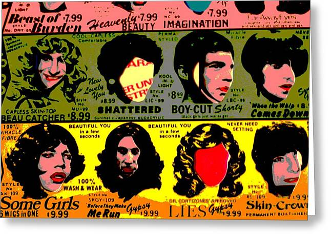 Rolling Stones Pop Art Greeting Card by Dan Sproul