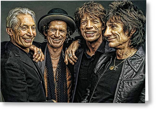 Digital Art Greeting Cards - Rolling Stones Greeting Card by Riccardo Zullian