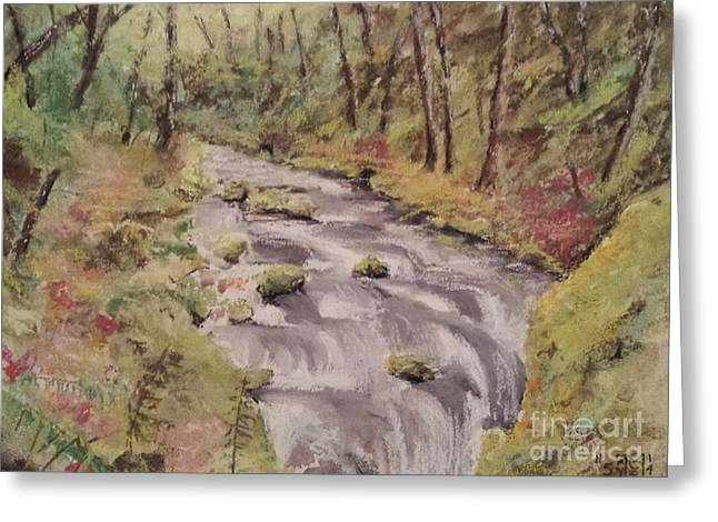 Rapids Pastels Greeting Cards - Rolling Stream Greeting Card by Jeffrey McDonald