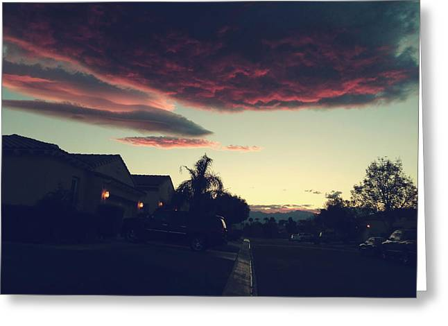 Pink Clouds Greeting Cards - Rolling Through Greeting Card by Laurie Search