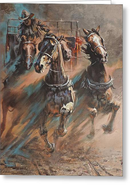 Mia Delode Greeting Cards - Rolling Thunder Greeting Card by Mia DeLode