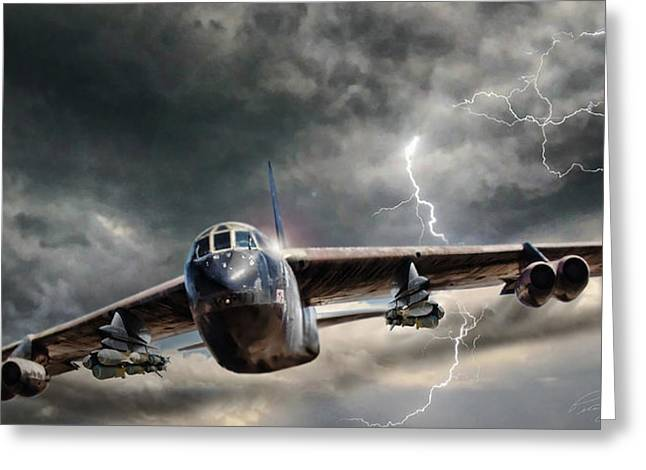 B-52 Greeting Cards - Rolling Thunder V2 Greeting Card by Peter Chilelli