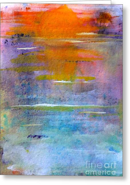 Lomax Greeting Cards - Rolling Tide At Sunset Greeting Card by Kate Lomax