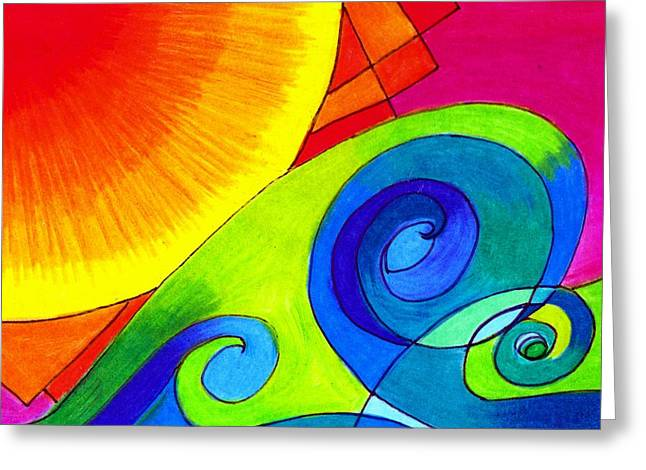 Rolling Waves Greeting Card by Geree McDermott