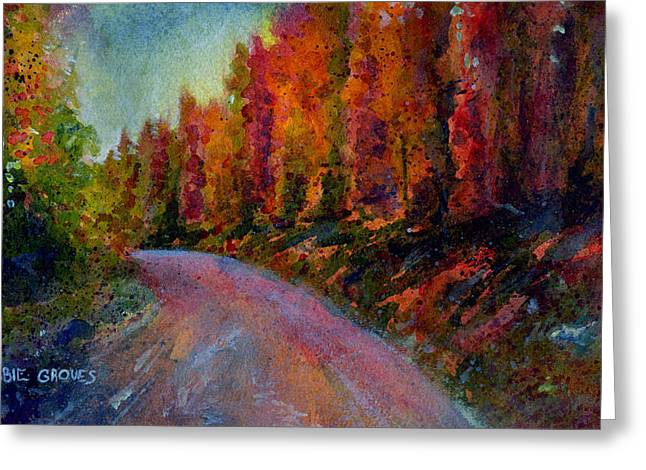 Acrylic Print Greeting Cards - Rollins Pass Greeting Card by Abbie Groves