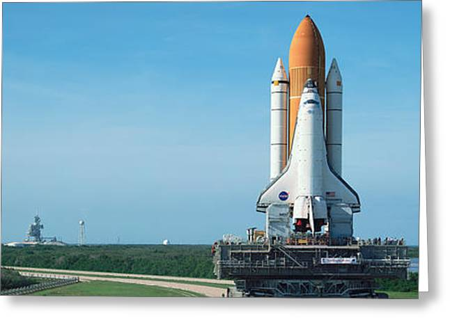 Nasa Space Shuttle Greeting Cards - Rollout Of Space Shuttle Discovery Greeting Card by Panoramic Images