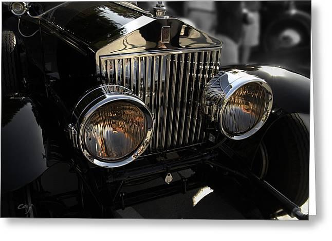 Curt Johnson Greeting Cards - Rolls Royce Grill 2 Greeting Card by Curt Johnson