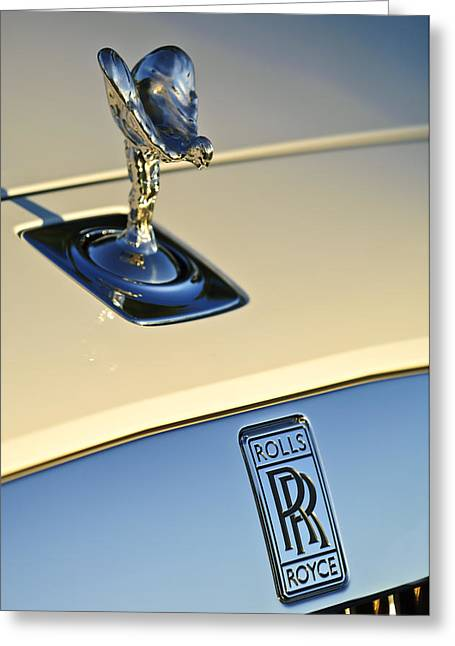 Mascot Photographs Greeting Cards - Rolls-Royce Hood Ornament 3 Greeting Card by Jill Reger