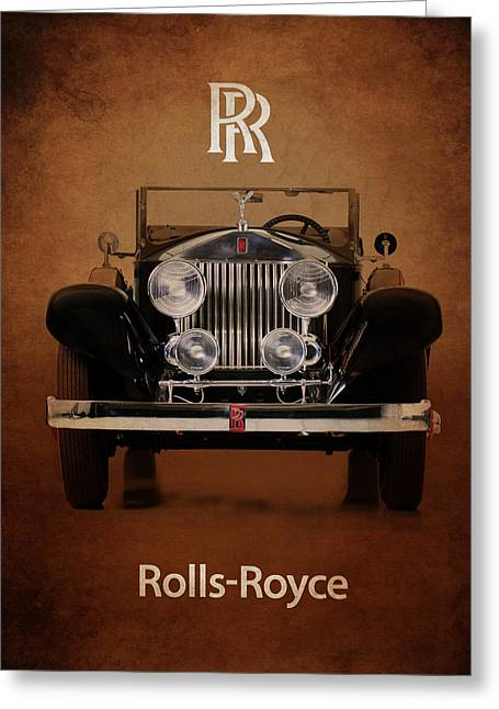 Roll Photographs Greeting Cards - Rolls Royce Roadster 1928 Greeting Card by Mark Rogan
