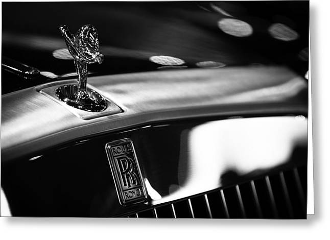 Emblem Greeting Cards - Rolls Royce Greeting Card by Sebastian Musial