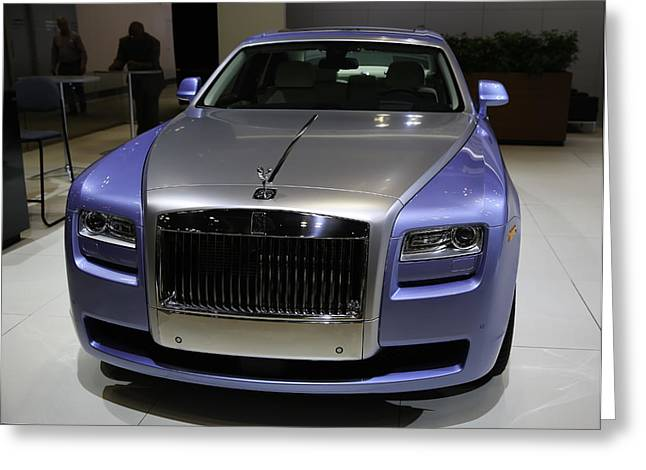 Rolls-royce Showcased At The New York Auto Show Greeting Card by E Osmanoglu