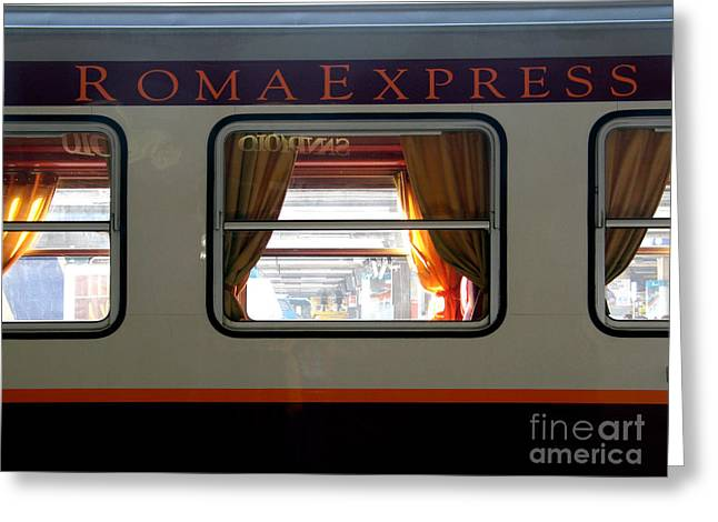 Express Greeting Cards - Roma Express Greeting Card by Tim Holt