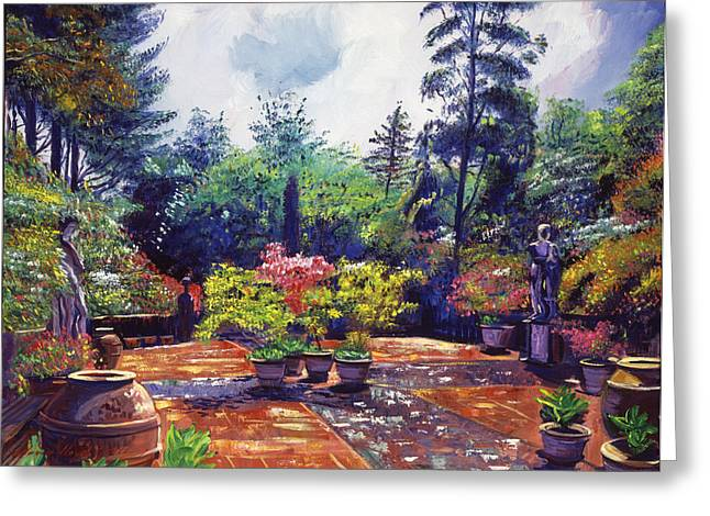Italian Landscapes Greeting Cards - Roma Garden Greeting Card by David Lloyd Glover