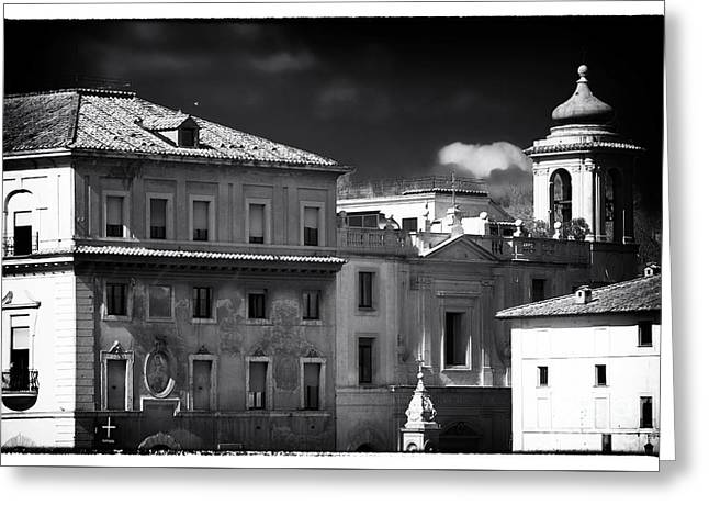 Trastevere Greeting Cards - Roma Roof Tops Greeting Card by John Rizzuto