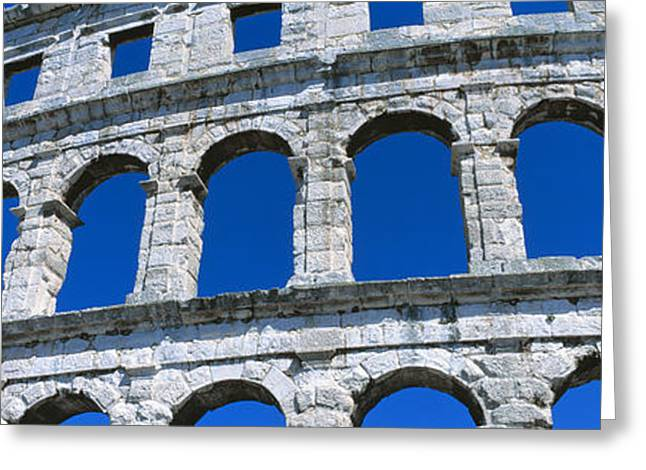 Roman Amphitheater, Pula, Croatia Greeting Card by Panoramic Images