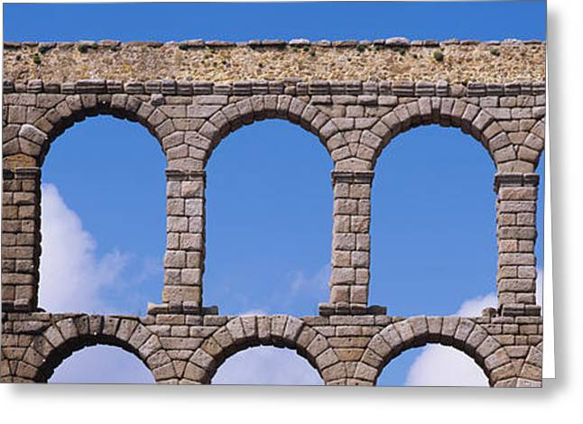 Civilization Greeting Cards - Roman Aqueduct, Segovia, Spain Greeting Card by Panoramic Images