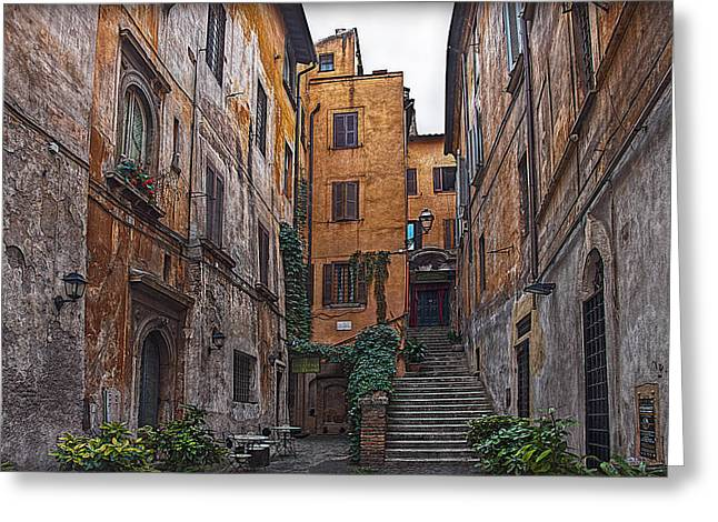 Architectur Greeting Cards - Roman Backyard Greeting Card by Hanny Heim