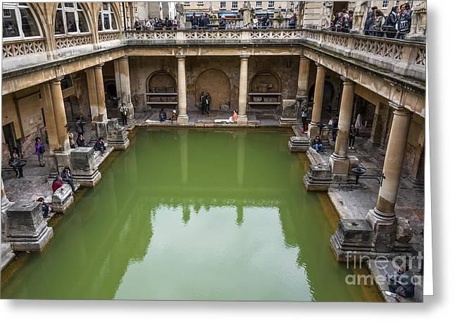 Roman Bath 02 Greeting Card by Svetlana Sewell
