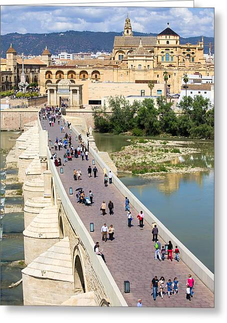 Citizens Greeting Cards - Roman Bridge and Mezquita in Cordoba Greeting Card by Artur Bogacki