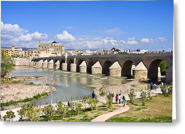 Roman Bridge in Cordoba Greeting Card by Artur Bogacki