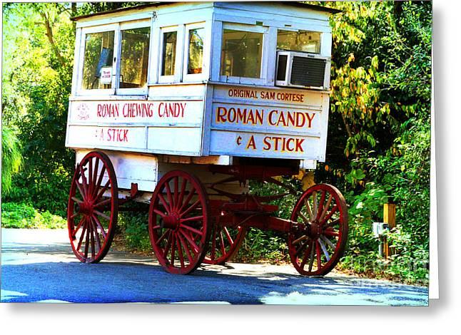Roman Candy Greeting Card by Scott Pellegrin