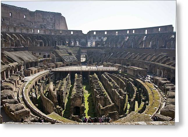 Cliff C Morris Jr Greeting Cards - Roman Coliseum Wide Greeting Card by Cliff C Morris Jr