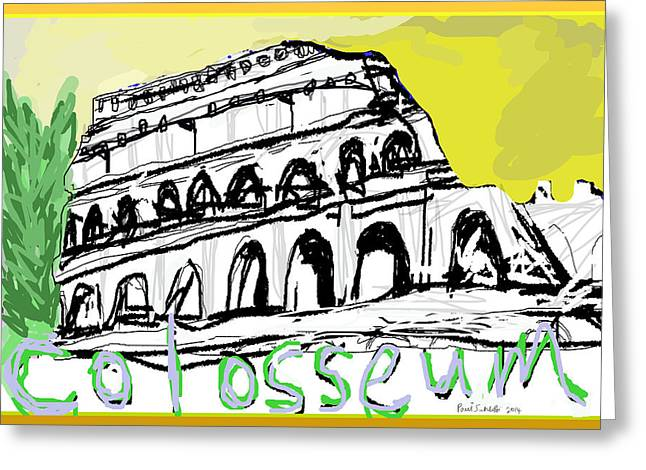 Flavius Greeting Cards - Roman Colosseum Greeting Card by Paul Sutcliffe